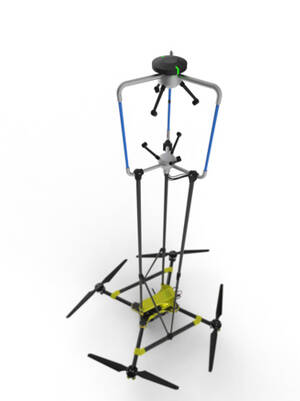 OPTOkopter - a drone for measuring wind velocities